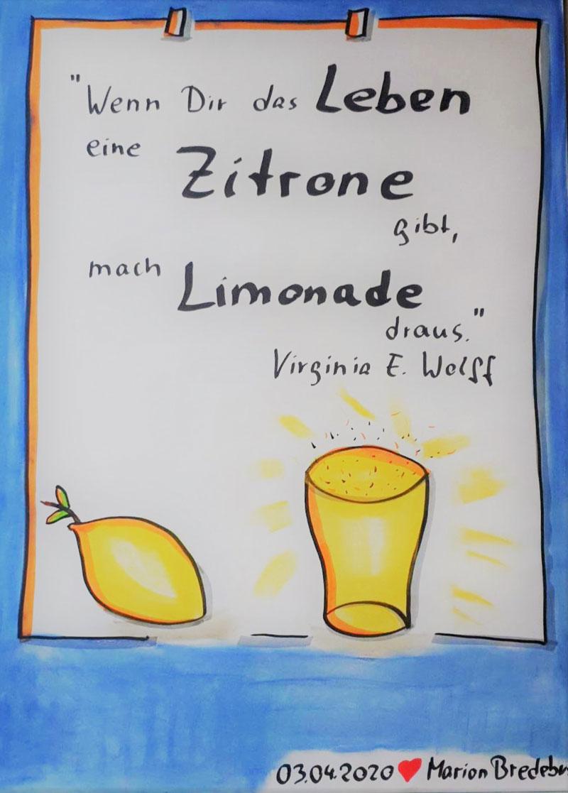 Flipchart Corona Zitronelimonade